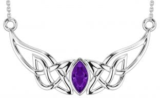 Silver Amethyst Celtic Necklace