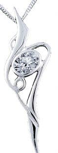 Silver Diamond Celtic Pendant