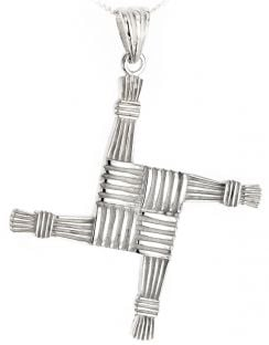 "Silver Irish ""St Bridget's Cross"" Pendant"