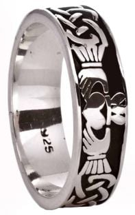 Silver Celtic Claddagh Ladies Ring