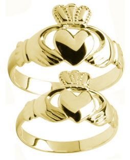 Gold Claddagh Ring Set