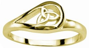 Ladies Gold Celtic Trinity Knot Ring