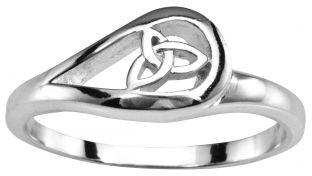 Ladies White Gold Celtic Trinity Knot Ring