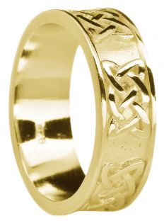 """Ladies Gold """"Lovers Knot""""  Celtic Band Ring"""