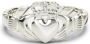 """Ladies Silver Claddagh """"Rope"""" Ring"""