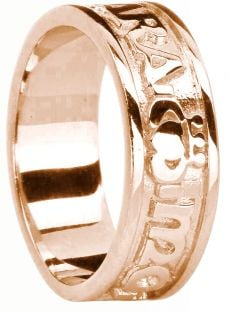 "Mens Rose Gold Claddagh ""My Soul Mate"" Band Ring"
