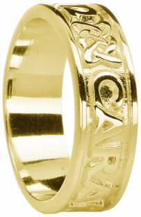 "Ladies Gold ""My Soul Mate""  Celtic Band Ring"