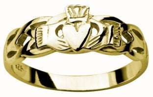 Ladies Gold Claddagh Celtic Wedding Ring