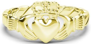"""Ladies Gold Silver Claddagh """"Rope"""" Ring"""