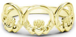 10K/14K/18K Gold Claddagh Trinity Ring