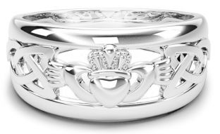 Gold Claddagh Celtic Knot Mens Ladies Unisex Ring