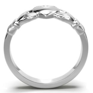 Classic Ladies Silver Claddagh Ring