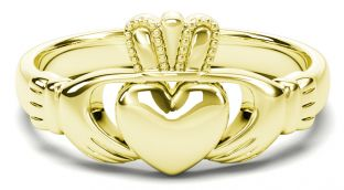 Classic Ladies White Gold Claddagh Ring