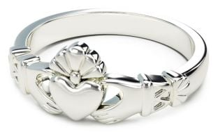 Ladies Silver Claddagh Celtic Knot Ring