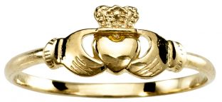 Childs Kids Petite Gold Silver Claddagh Ring