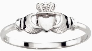 Childs Kids Petite Silver Claddagh Ring