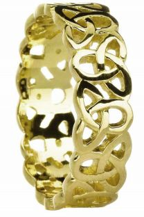"Ladies10K/14K/18K Yellow Gold ""Celtic Knot"" Wedding Band Ring"