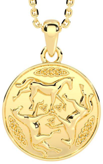14K Gold Solid Silver Irish