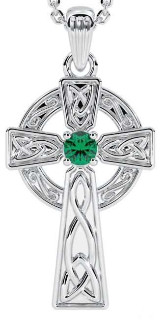 White Gold Genuine Emerald .10cts