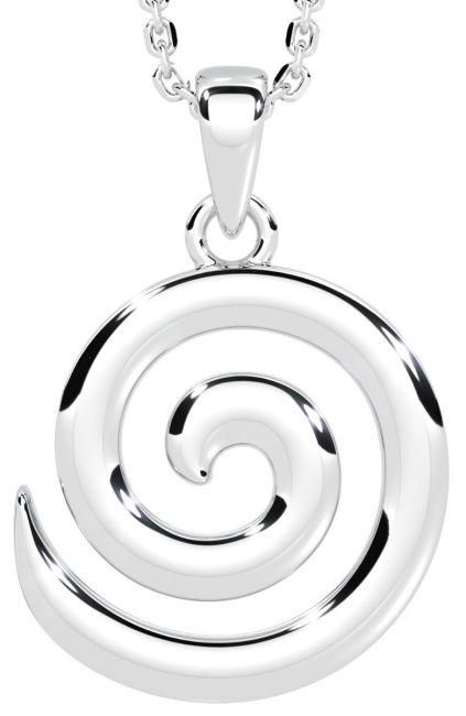 Silver Celtic Spiral Pendant Necklace