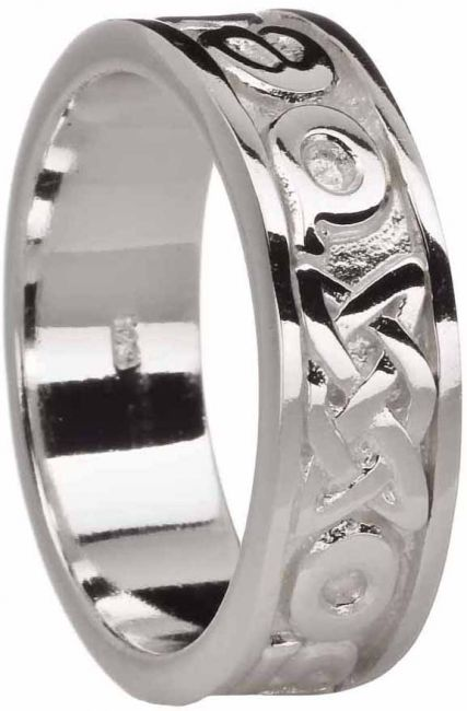 Silver Love Forever Celtic Ring