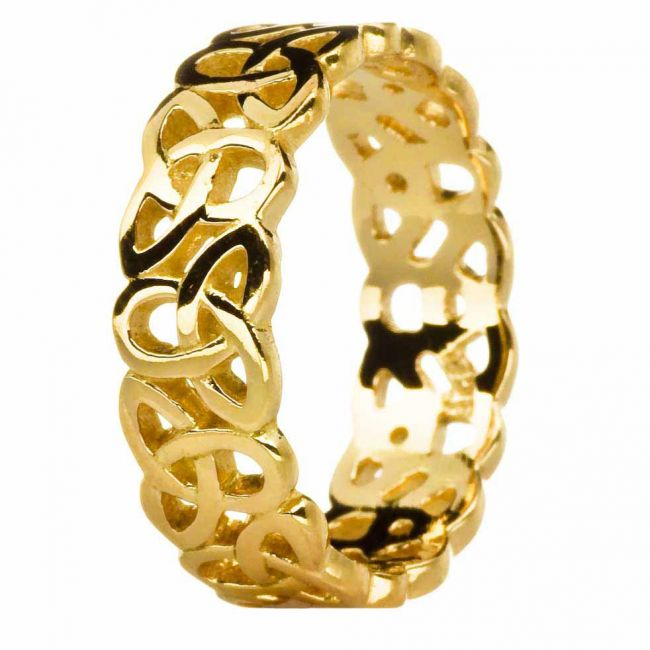 Ladies 14K Gold Silver Celtic Knot Ring