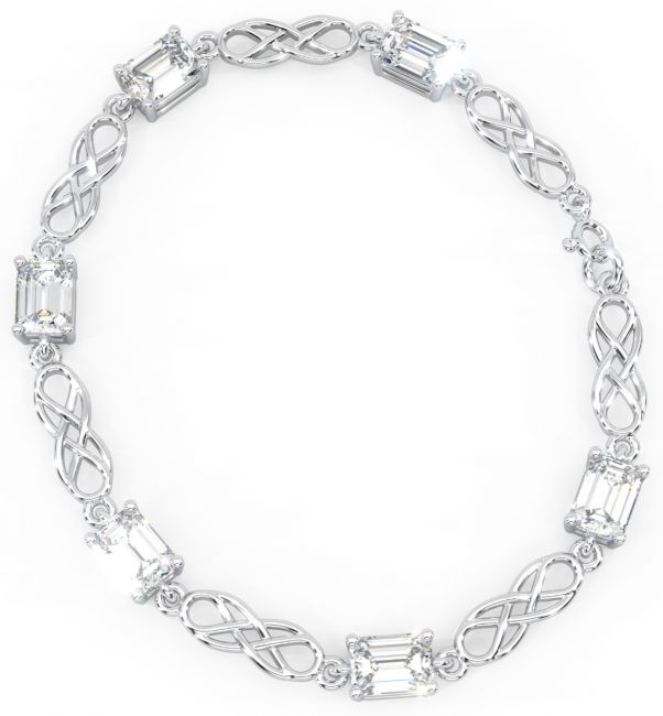 Silver Diamond Celtic Bracelet