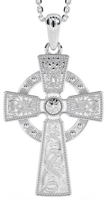 14K White Gold Solid Silver