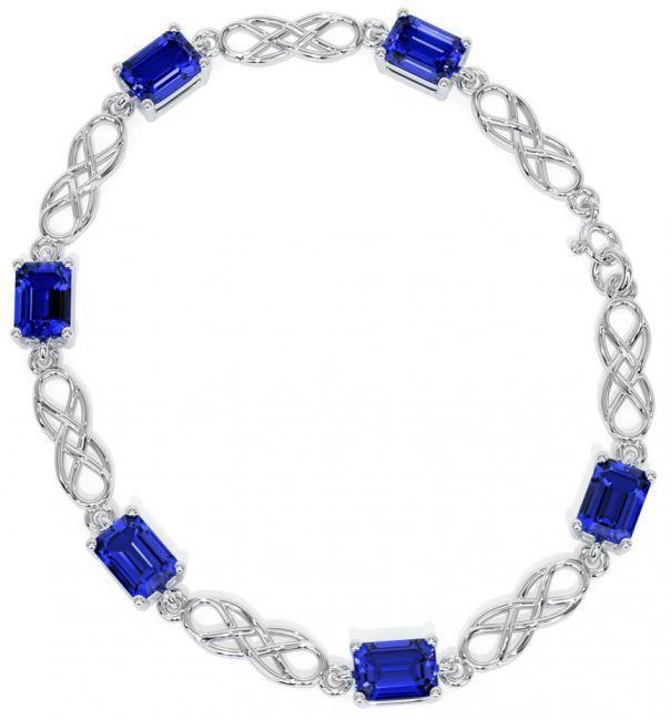 Silver Sapphire Celtic Bracelet
