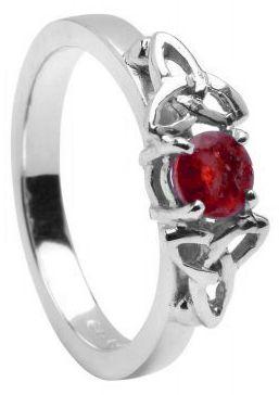 10K/14K18K White Gold Genuine Pink Sapphire Engagement Ring