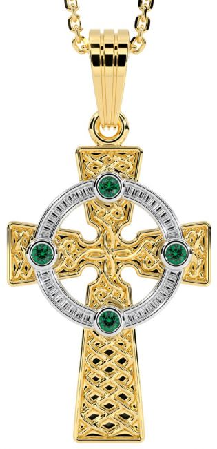 Yellow & White Gold Genuine Emerald .12cts