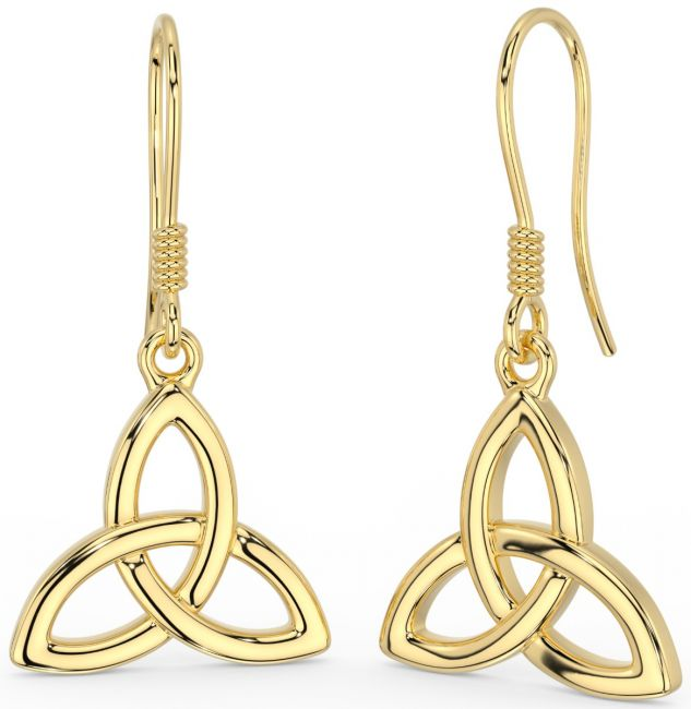 14K Yellow Gold Solid Silver Celtic