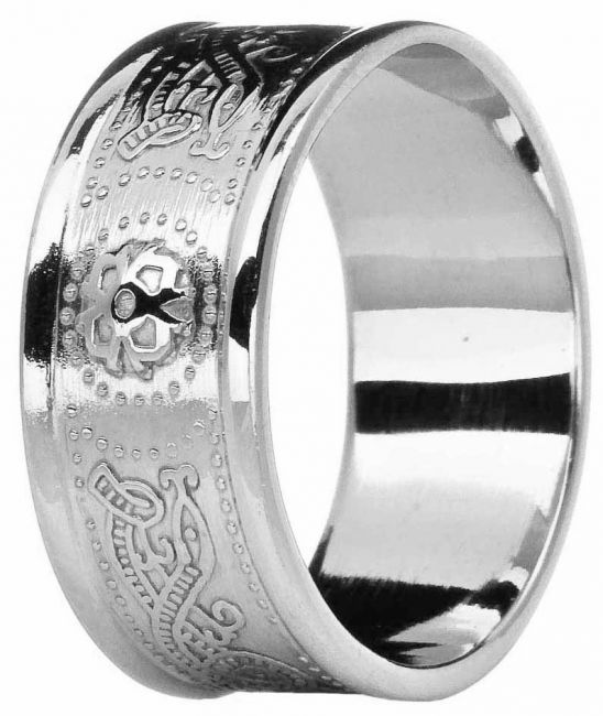 Mens 10K/14K/18K White Gold Celtic