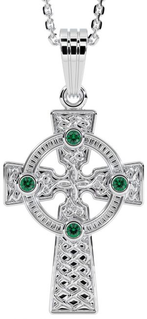 White Gold Genuine Emerald .12cts