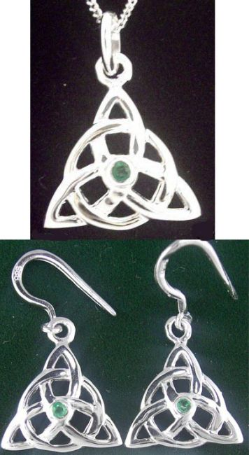 14K White Gold Irish