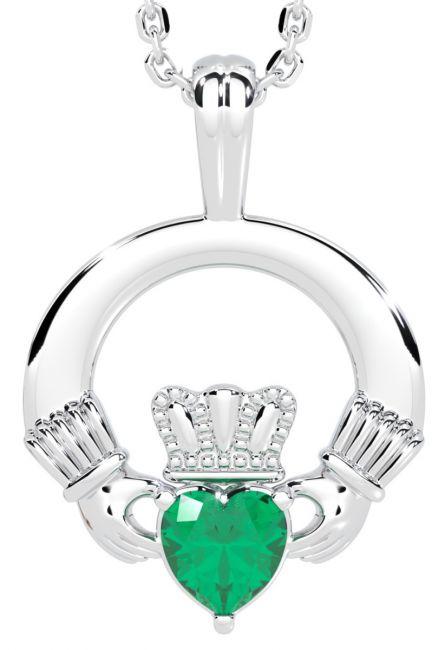 White Gold Emerald .18cts Irish