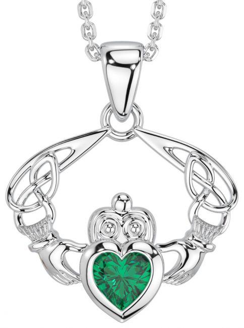 Silver Emerald Celtic