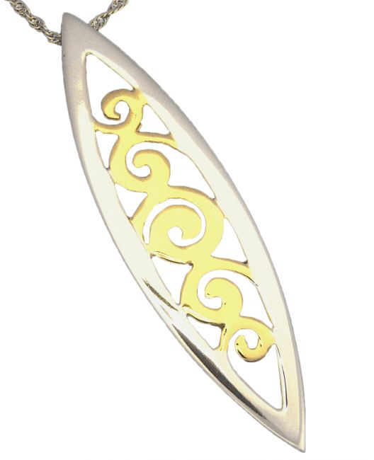 14K Two Tone Gold Silver