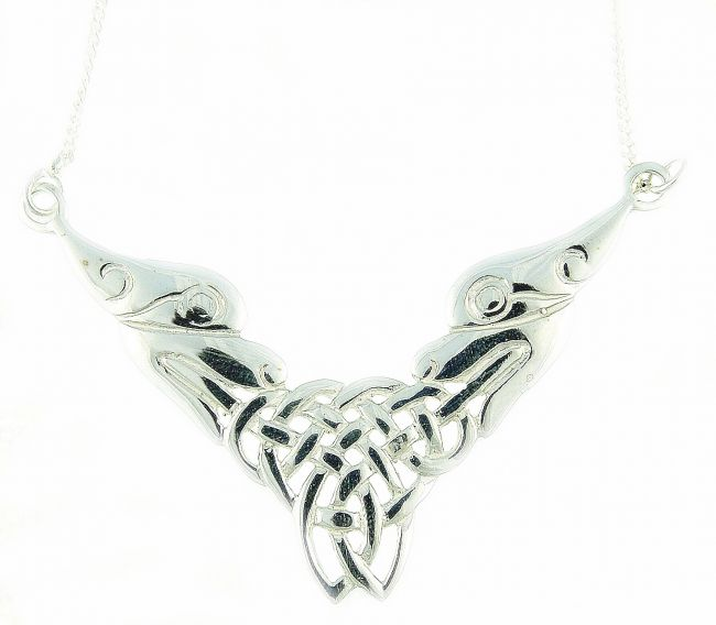 Silver Celtic Lion Necklace