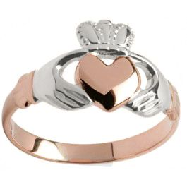 14K Rose gold with White Hands and Crown