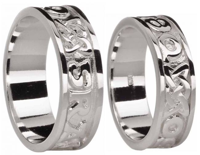 Silver Love Forever Celtic Ring Set