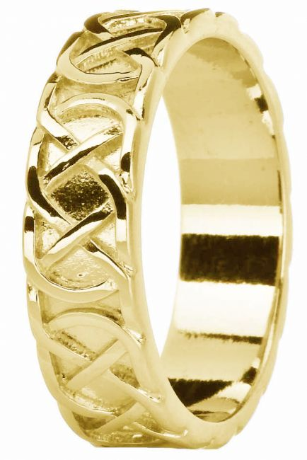 Mens Yellow Gold Celtic