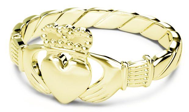 Ladies Gold Silver Claddagh